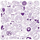 Ύπνος doodles Στοκ Εικόνα