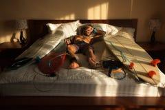 Ύπνος Surfer Στοκ φωτογραφίες με δικαίωμα ελεύθερης χρήσης