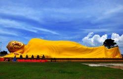 Ύπνος Wat Lampho Kho Yo Songkhla Ταϊλάνδη του Βούδα Στοκ Εικόνα