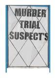 Ύποπτοι δίκης για δολοφονία στοκ φωτογραφία με δικαίωμα ελεύθερης χρήσης