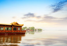 δύση λιμνών hangzhou της Κίνας στοκ εικόνα