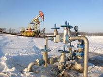 δύση της Σιβηρίας πετρελαίου βιομηχανίας διάτρυσης καλά Στοκ Φωτογραφία