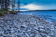 δύσκολη ακτή Στοκ εικόνες με δικαίωμα ελεύθερης χρήσης