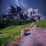 δύσκολο ηλιοβασίλεμα βουνών ορών chamonix γαλλικό δολομίτης Ιταλία ορών Στοκ φωτογραφίες με δικαίωμα ελεύθερης χρήσης