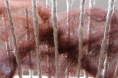 Ύφανση μαλλιού προβάτων στοκ εικόνες