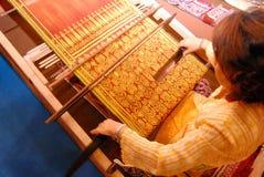 Ύφανση Kumbu Pua στοκ φωτογραφία