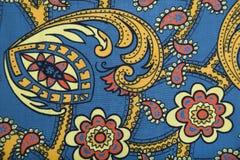 Ύφασμα καμβά με το πολύχρωμο floral σχέδιο του Paisley Στοκ φωτογραφία με δικαίωμα ελεύθερης χρήσης