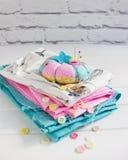 Ύφασμα μαξιλαριών καρφιτσών Στοκ Φωτογραφία