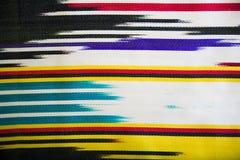 Ύφασμα μαλλιού με το ζωηρόχρωμο γεωμετρικό σχέδιο Στοκ φωτογραφίες με δικαίωμα ελεύθερης χρήσης