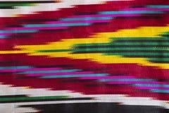 Ύφασμα μαλλιού με το ζωηρόχρωμο γεωμετρικό σχέδιο Στοκ Εικόνα