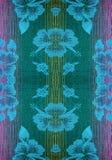 Ύφασμα με ένα σχέδιο των λουλουδιών με τα νήματα progenote Στοκ εικόνες με δικαίωμα ελεύθερης χρήσης