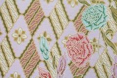 Ύφασμα με τη σύσταση και το υπόβαθρο σχεδίων λουλουδιών Στοκ Φωτογραφία