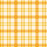 Ύφασμα με το πορτοκαλί σχέδιο Στοκ Εικόνες