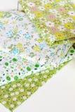Ύφασμα με το floral σύνολο σχεδίων Στοκ εικόνες με δικαίωμα ελεύθερης χρήσης
