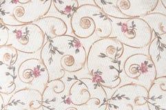 Ύφασμα με το floral υπόβαθρο σχεδίων Στοκ φωτογραφία με δικαίωμα ελεύθερης χρήσης