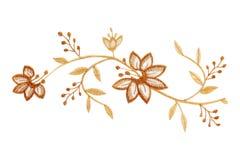 Ύφασμα λουλουδιών στο λευκό Στοκ φωτογραφία με δικαίωμα ελεύθερης χρήσης