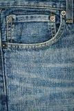 Ύφασμα τζιν παντελόνι με την τσέπη Στοκ φωτογραφίες με δικαίωμα ελεύθερης χρήσης