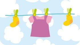 ύφασμα το θηλυκό s μωρών Στοκ Εικόνες