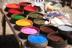 ύφασμα χρωμάτων φυσικό Στοκ εικόνες με δικαίωμα ελεύθερης χρήσης