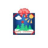 Ύφασμα Applique για τα Χριστούγεννα Στοκ φωτογραφίες με δικαίωμα ελεύθερης χρήσης