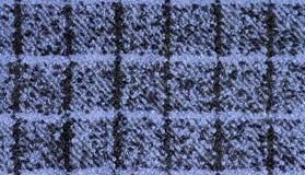 Ύφασμα boucle των μπλε και μαύρων χρωμάτων Στοκ φωτογραφία με δικαίωμα ελεύθερης χρήσης