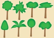 ύφος 8 δέντρων διανυσματική απεικόνιση