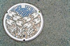 Ύφος αγωγών ΚΑΠ Ιαπωνία στη διάβαση πεζών στο Himeji, Ιαπωνία Στοκ φωτογραφία με δικαίωμα ελεύθερης χρήσης