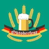 Ύφος αφισών Oktoberfest επίπεδο διανυσματική απεικόνιση