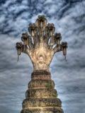 Ύφος Βούδας με το naga Στοκ Εικόνες
