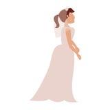 ύφος γαμήλιων φορεμάτων νυφών ελεύθερη απεικόνιση δικαιώματος