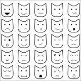 Ύφος γατών emoticon15 ελεύθερη απεικόνιση δικαιώματος