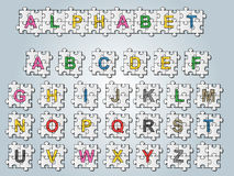Ύφος γρίφων αλφάβητου Στοκ Εικόνα