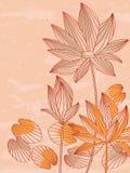 Ύφος γραμμών Lotus Στοκ Φωτογραφίες