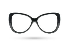 Ύφος γυαλιών μόδας μεταμφιέσεων ματιών γατών που απομονώνεται στην άσπρη πλάτη Στοκ Φωτογραφία