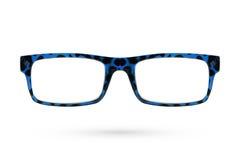 Ύφος γυαλιών μόδας πλαστικός-που πλαισιώνεται που απομονώνεται στο άσπρο backgroun Στοκ Φωτογραφίες