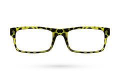 Ύφος γυαλιών μόδας πλαστικός-που πλαισιώνεται που απομονώνεται στο άσπρο backgroun Στοκ Εικόνα