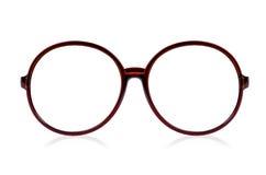 Ύφος γυαλιών μόδας πλαστικός-που πλαισιώνεται που απομονώνεται στο άσπρο backgroun Στοκ εικόνα με δικαίωμα ελεύθερης χρήσης