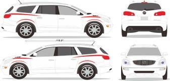 Ύφος διάστασης αυτοκινήτων Στοκ εικόνες με δικαίωμα ελεύθερης χρήσης