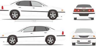 Ύφος διάστασης αυτοκινήτων Στοκ Εικόνα