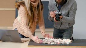 Ύφος ιδεών έμπνευσης φωτογραφίας παρασκηνίων απόθεμα βίντεο