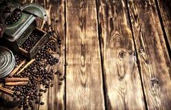 Ύφος καφέ Παλαιός μύλος καφέ Στοκ εικόνες με δικαίωμα ελεύθερης χρήσης