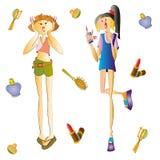 ύφος κοριτσιών μόδας εξαρτημάτων Στοκ Εικόνα