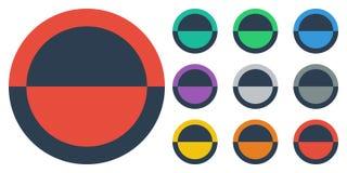 Ύφος κουμπιών επίπεδο Στοκ Φωτογραφίες