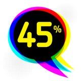 Ύφος λαϊκός-τέχνης, επιχειρησιακή έννοια με το κείμενο έκπτωση 45 τοις εκατό Στοκ εικόνες με δικαίωμα ελεύθερης χρήσης