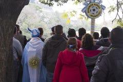 Ύφος Μπουένος Άιρες Αργεντινή Λατινική Αμερική Νότια Αμερική ανεμιστήρων ποδοσφαίρου συμπαθητική Στοκ Εικόνα
