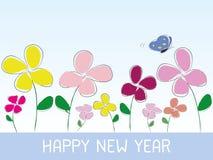 Ύφος λουλουδιών καλής χρονιάς ελεύθερη απεικόνιση δικαιώματος