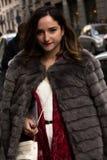 Ύφος οδών: Φθινόπωρο εβδομάδας μόδας του Μιλάνου/χειμώνας 2015-16 στοκ φωτογραφίες με δικαίωμα ελεύθερης χρήσης