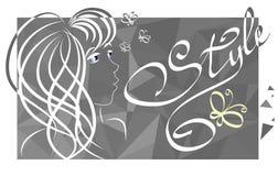 Ύφος πεταλούδων κοριτσιών Στοκ φωτογραφίες με δικαίωμα ελεύθερης χρήσης