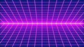 ύφος πλέγματος Synthwave της δεκαετίας του '80 διανυσματική απεικόνιση