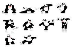 Ύφος ποδοσφαίρου της Panda Στοκ εικόνες με δικαίωμα ελεύθερης χρήσης